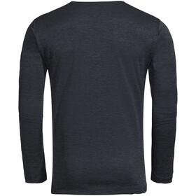 VAUDE Essential T-shirt à manches longues Homme, phantom black